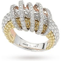 shop for FOPE 18ct Three Colour Solo Mialuce 0.70ct Diamond Ring - Ring Size L at Shopo