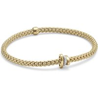 shop for Fope 18ct Yellow Gold Flex'it Prima Bracelet at Shopo