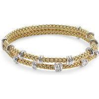 Fope 18ct Yellow Gold Flexit Prima Eyes Double Bracelet