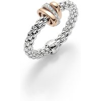 shop for Fope 18ct White Gold Flex'It Prima 0.10ct Ring at Shopo