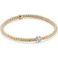 shop for Fope Flex'it Yellow Gold Diamond Prima Bracelet- Size Medium at Shopo
