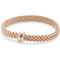 Fope Flexit Vendome Rose Gold Diamond Bracelet - Size Medium
