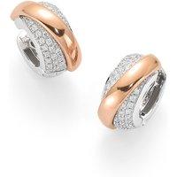 Fope Flexit Vendome Rose Gold Diamond Earrings
