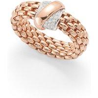 shop for Fope Flex'it Vendome Rose Gold Diamond Ring - Size Medium at Shopo