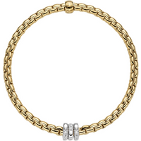shop for Fope 18ct Yellow Gold Eka Tiny Bracelet at Shopo