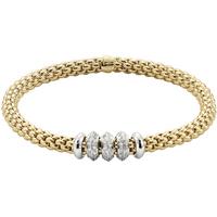 shop for Fope 18ct Yellow Gold Solo Diamond Bracelet at Shopo