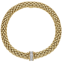 shop for FOPE 18ct Yellow Gold Love Nest Flex'it 0.33ct Diamond Bracelet at Shopo