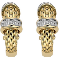 shop for Fope 18ct Yellow Gold Love Nest Diamond Earrings at Shopo