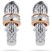 shop for Fope 18ct White & Rose Gold Love Nest Diamond Earrings at Shopo