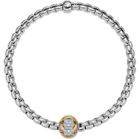 shop for Fope 18ct White Gold Eka Tiny Bracelet at Shopo