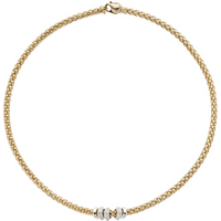 shop for FOPE 18ct Yellow Gold Solo Flex'it 0.50ct Diamond Necklace at Shopo