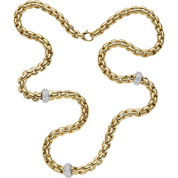 Fope 18ct Yellow and White Gold Flexit Necklace