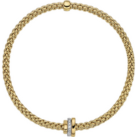 Fope 18ct Yellow and White Gold Flexit Prima Bracelet