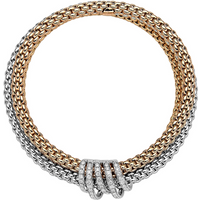 Fope 18ct Rose and White Gold Prima MiaLuce Bracelet