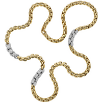 Fope 18ct Yellow and White Gold Eka MiaLuce Necklace