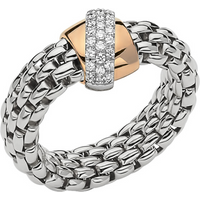shop for Fope 18ct White Gold Flex'it Vendome Ring - Ring Size M at Shopo