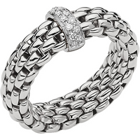 shop for Fope 18ct White Gold Flex'it Vendome Ring - Ring Size P at Shopo