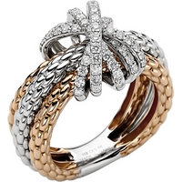 Fope 18ct Rose and White Gold MiaLuce Ring - Ring Size N