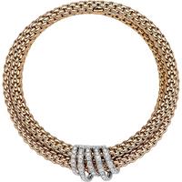 FOPE 18ct Rose Gold Mialuce FlexIt Diamond Bracelet