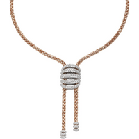 Fope 18ct Rose and White Gold MiaLuce Necklace