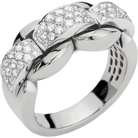 shop for Fope 18ct White Gold MiaLuce Ring - Ring Size J at Shopo
