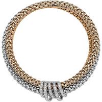 Fope 18ct White and Rose Gold Diamond MiaLuce Bracelet