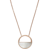 Skagen Agnethe Rose-Gold-Tone and Mother-of-Pearl Short Pendant Necklace.