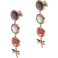 shop for Emporio Armani Multistone Dragonfly Drop Earrings at Shopo