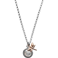 shop for Emporio Armani Mother Of Pearl Dragonfly Pendant at Shopo