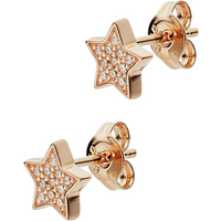 shop for Emporio Armani Rose Gold Tone Cubic Zirconia Star Stud Earrings at Shopo
