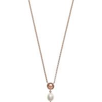 shop for Emporio Armani Rose Gold Coloured Fresh Water Pearl Pendant at Shopo