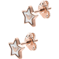 shop for Emporio Armani Rose Gold Coloured Star Stud Earrings at Shopo
