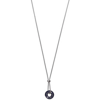 shop for Emporio Armani Stainless Steel Blue Open Disc Pendant at Shopo