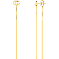 shop for Gucci Running G Drop Earrings in 18ct Yellow Gold at Shopo