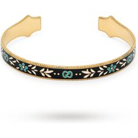 shop for Gucci Icon Bracelet in 18ct Yellow Gold with Enamel at Shopo