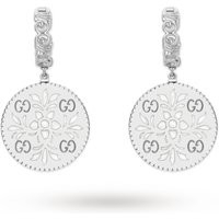 shop for Gucci Icon Drop Earrings in 18ct White Gold at Shopo