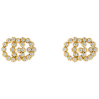 shop for Gucci Running G Stud Earrings with Diamonds at Shopo