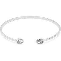 shop for Gucci Running G 18ct White Gold Cuff with Diamonds at Shopo