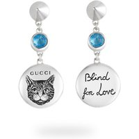 shop for Gucci Blind for Love Blue Earrings at Shopo