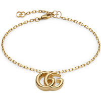 shop for Gucci Double G 18ct Yellow Gold Bracelet at Shopo
