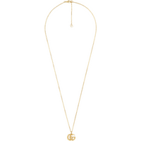 shop for Gucci Small Double G 18ct Yellow Gold Necklace at Shopo