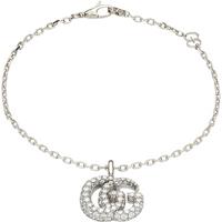 shop for Gucci 18ct White Gold 2.02ct Diamond Double G Bracelet at Shopo