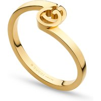 shop for Gucci Running G Ring in 18ct Yellow Gold - Ring Size M.5 at Shopo