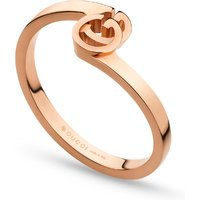 shop for Gucci Running G Ring in 18ct Rose Gold - Ring Size M at Shopo