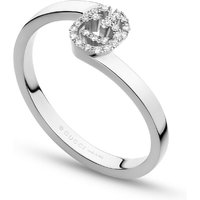 shop for Gucci Running G Ring in 18ct White Gold with Diamonds - Ring Size M.5 at Shopo