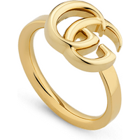 shop for Gucci GG Running Yellow Gold Ring - Ring Size N at Shopo