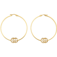 shop for Gucci 18ct Yellow Gold Running G Hoop Earrings at Shopo