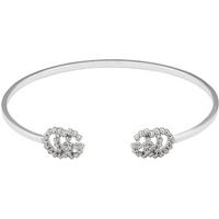 shop for Gucci GG Running 18ct White Gold Diamond Bracelet at Shopo