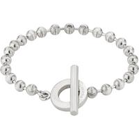 shop for Gucci Boule Chain Silver Bracelet Size 18 at Shopo