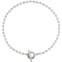 shop for Gucci Boule Chain Silver Necklace at Shopo